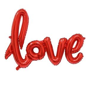 LOVE Red Foil Balloon, Valentines Party Decor 🌸
